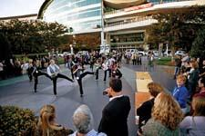 A flash mob energizes an unsuspecting High Point crowd with a surprise dance performance to celebrate Showplace's 10th anniversary.