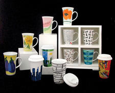 Zrike is offering porcelain decaled mugs from its licensed Vera line as well as thermal mugs in its Zrike collection. zrike.com