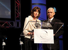 James Douglas Glover, founder of Palmer Marketing Company, posthumously received the ICON 2010 Lifetime Achievement Honor. His wife, Kim Glover—here with George Kacic, Gift and Home Trade Association board chairman emeritus—accepted the award on Glover's behalf.