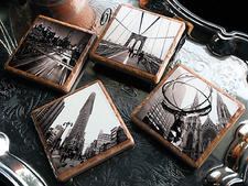 Fleur-de-Stone introduces a line of stone drink coasters and trivets with original photography of New York City landmarks and landscapes. fleurdestone.com