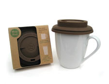 Mug Hug from Vizun is a reusable, flexible silicone lid for coffee mugs that easily presses on for a seal. mug-hug.com