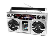 Innovative Technology's iPhone/iPod Boom Box takes you back in time to the 1980s. The new product has the look of a classic oversized boom box from three decades ago, with the latest technology from 2010. It includes an AM/FM radio and a digital clock. The iPhone/iPod Boom Box records directly on to its USB or SD card reader in an MP3 format. ithomeproducts.com