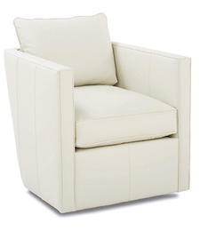 Robin Bruce, a Rowe division, is out to prove there is leather beyond brown with a new collection of chairs, including the Rothko chair in striking white. rowefurniture.com