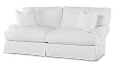 The second Shabby Chic collection to debut is upholstery featuring a classic white slipcover look. It's called Comfy ... of course. milestalbottfurniture.com