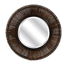 Exclusively from IMAX, the Voss bamboo wall mirror is perfect for the down-to-earth consumer and is naturally crafted from bamboo. imaxcorp.com