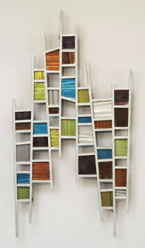 Nova expands its wall decor category at market, with three-dimensional metal artwork and wall sculptures, such as Colored Windows. novalamps.com