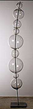 Fusion Z combines nature and glassblowing with Bubbleboo, available in a tall or curved configuration, measuring 37 and 33 inches, respectively. fusionz.com