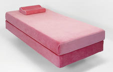 The Glideaway Jubilee mattress collection, made in pink (pictured here) and blue, is designed specifically to provide better support for children. glideaway.com