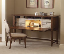 Universal adds to its Better Homes and Gardens program this market with the True Vintage Chantel Secretary with all the nooks and crannies needed for any home office. universalfurniture.com