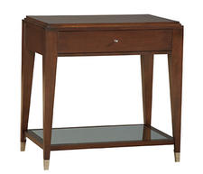 Revco's Candice Olson Collection has many new offerings this season including this handsome table with canted legs and smart-looking hardware. revcointl.com
