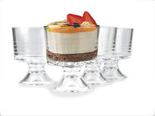 Circle Glass introduces mini trifle bowls in Cirque, one of its most popular patterns. circleglass.com