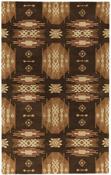 Surya expands its Dick Idol collection with the Santa Fe group, constructed of hand-tufted wool. surya.com