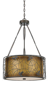 Quoizel?s Mica fixture has a mica shade and a Renaissance Copper finish. It measures 31 1/2 inches high and is 20 inches in diameter. quoizel.com