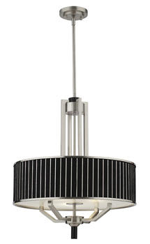 With the crisp appeal of a finely tailored suit, the Haberdasher collection from Thomas Lighting contains 13 fixtures and is available in two finishes. thomaslighting.com