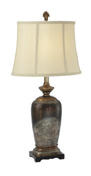 The almost 70 introductions from Midwest-CBK include the Casa Cristina lamp in an antique bronze finish with oval urn-shape base. mwcbk.com