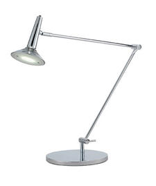 The height of Adesso?s Radar table lamp can be adjusted from 15 to 30 inches and it takes one 3 watt LED. A matching floor lamp is also available. adessohome.com