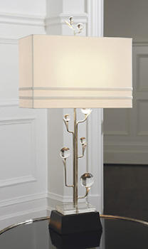 Among Global Views? introductions will be the Crystal Tree lamp, which stands 37 inches high. globalviews.com