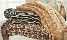 This jacquard animal-motif throw is part of Empress Home?s new line of luxury blankets and throws. It?s made from jacquard-woven bamboo and is yarn-dyed and provides both practical warmth and a decorative bedding or decor option. empresssilk.com