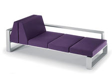 Kama Dyvan, Contact company for price. Combines lacquered aluminum with rounded angles reminiscent of the ?70s. egoparis.com