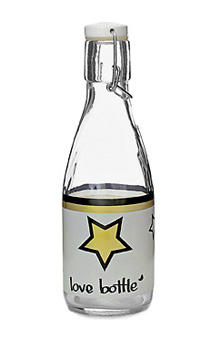 500 ml Water Bottle, Gold and Black Stars Design, $15. Can be personalized with bands and stickers. 415-806-2684; lovebottle.net