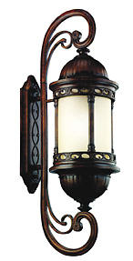 Large Corunna Lantern, $779.85. Beautiful detailing in a brownstone finish; available in incandescent or fluorescent. 866-558-5706; kichler.com