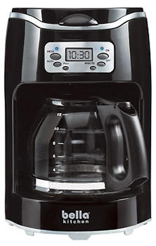 Bella Kitchen 12-Cup Programmable Coffeemaker, $29.99. Digital display includes a programmable timer and a variety of functional controls. 514-383-4720, sensioinc.com