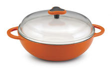10-Inch Rachael Ray Cast Iron Everything Pan With Glass Lid, $69.99. One of the new specialty cookware pieces from the Food Network star. 800-450-0156, potsandpans.com