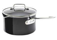 Hard Enamel 3-Quart Sauce Pan, $60. Redesigned line from the ?Bam!? man.  800-980-8474, emerils.com
