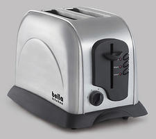 Bella Kitchen 2-Slice Toaster, $24.99. Includes automatic and manual switch, variable browning control and slide-out crumb tray. 514-383-4720, sensioinc.com