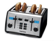 Digital Countdown Toaster, $89.99. Digital countdown LED timer indicates when the toast is ready. 514-685-2820, toastess.com