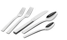 Meteo, five-piece place setting. Stylish and elegant with lustrous finish and distinctive knife blade.