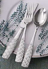 Brocade, 20-piece set. A debut flatware pattern from Oster.