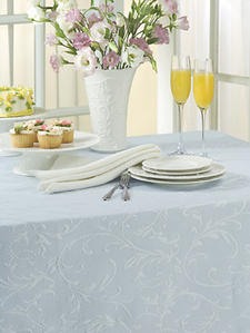 Lenox Opal Innocence. A white-on-white vine motif is translated into a cotton-rich matelasse.