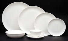 White Coupe dinner plate. A simple yet elegant statement on the table.