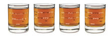 Uncommon Goods (OMG) brings emoticons to your mouth with this set of Geek shot glasses. Set of four, $26, 888-365-0056
