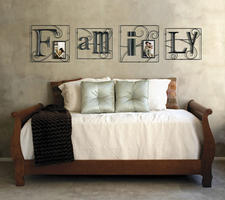 The popularity of sentiments has made its way to wall art, as illustrated by this piece from Burnes Home Accents. burnesofboston.com.