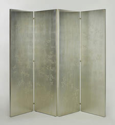 Barbara Barry, for Henredon, expanded on her signature silver leaf motif with a new screen.