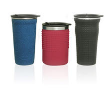 Pacific Cornetta is getting soft with its new travel mug line called Sof-t. A pliable plastic cover gives the mug a comfortable feel, perfect for on-the-go drinking. The cover can also be customized with embossed and debossed logos and patterns. The mug is made of stainless steel.