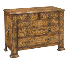Encore/Sarreid?s new Biltmore For Your Home collection features the Maximilian Chest inspired by a 16th Century Spanish piece from the Music Room in Biltmore House.
