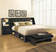 Broyhill?s newest collection is Perspectives, a complete case goods offering, including this bedroom set with extra storage beneath the bed.