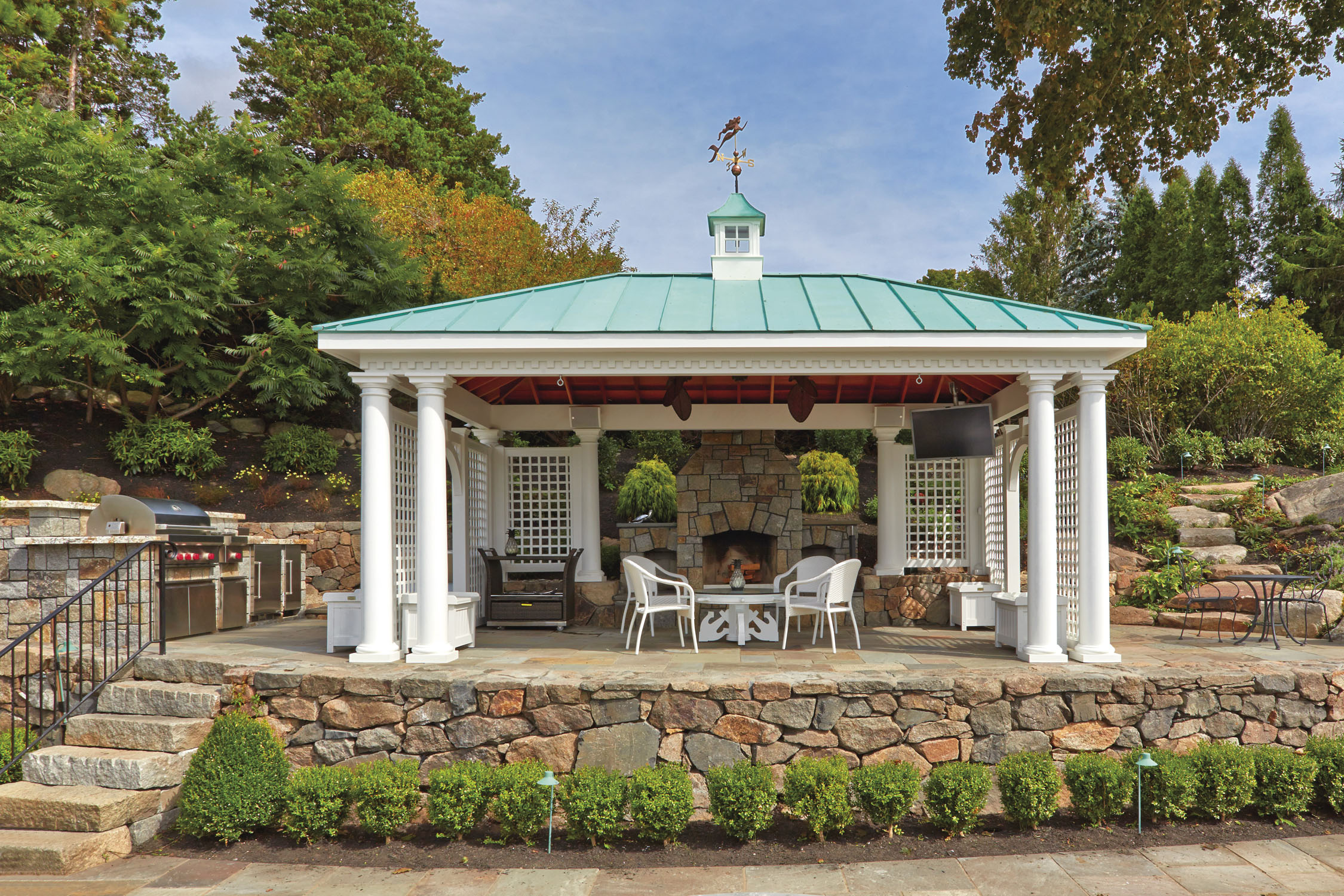 Walpole outdoors launches new line of outdoor pavilions for Walpole outdoors