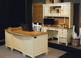 Aspenhomeu0027s Cottonwood Desk Has An Ergonomic Curve For Better Access To The  Entire Work Surface.