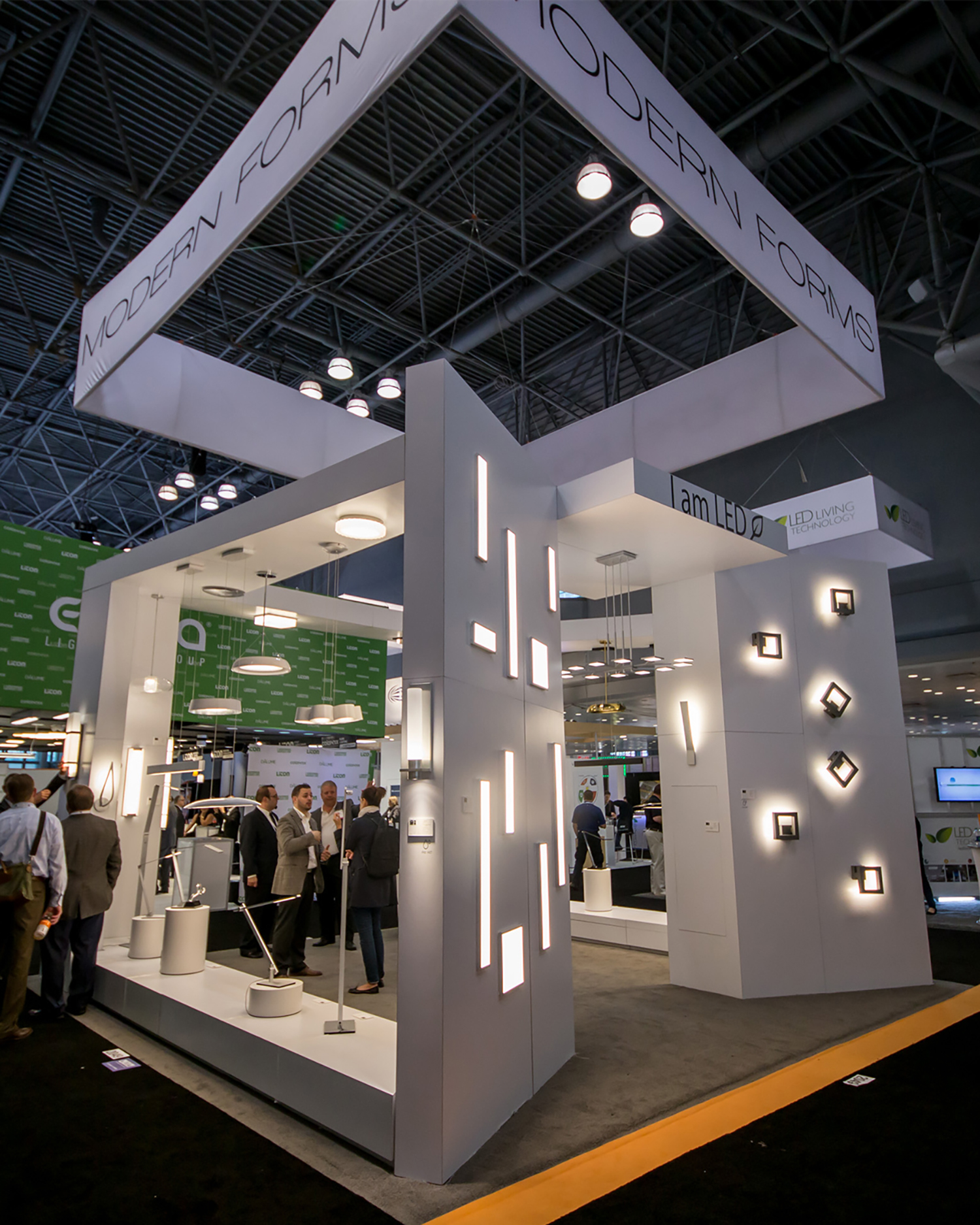 Modern forms wins best booth award at 2015 lightfair for Trade show poll booth