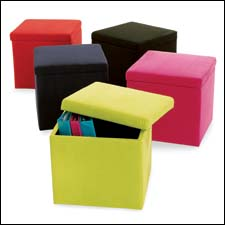 Available At Walmart, The Mainstays Collapsible Storage Ottoman Is A  Space Saving Item For Dorm Rooms. Walmart.com Part 11
