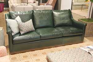 This 89 Inch Sofa In Hunter Green Leather Has Been A Strong Placement Wesley Hall Retail 6 250