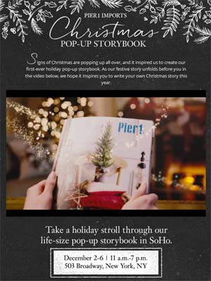 Pier 1 Imports Pop-Up Book