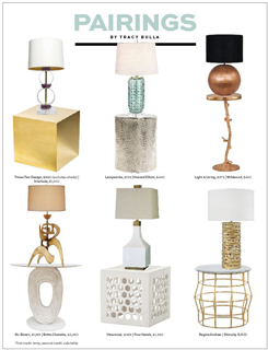 Pairings: Lamps & Side Tables