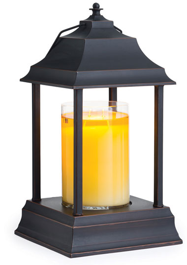 Our patented Carriage™ Lantern embodies the distinctive allure and design of New England's colonial fixtures while warming candles from the top down to create the appearance of a lit candle.