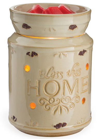The Illumination™ Fragrance Warmers bring a stylized touch in a variety of designs to any space while releasing fragrance from scented wax melts. The soft halogen bulb creates a warm glow through the accented light holes.