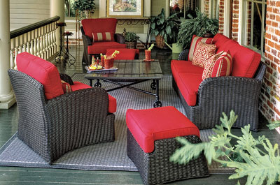 The Kingston Deep Seating Wicker Outdoor Furniture Collection Offers Your  Guests Comfort In This Roomy Collection